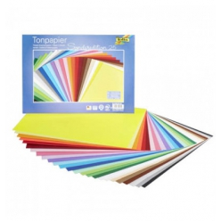papier cartonne 35x25 cm 130g 25 couleurs assorties