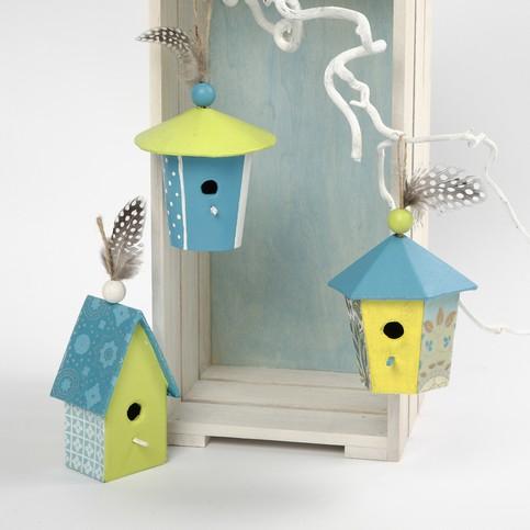activit avec les enfants d corer nichoirs en papier mach. Black Bedroom Furniture Sets. Home Design Ideas