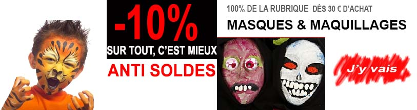 masques et maquillage 10%