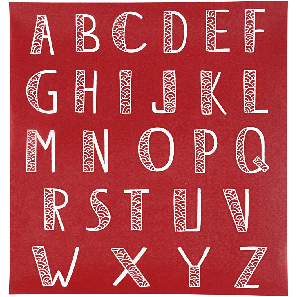 Pochoirs alphabet