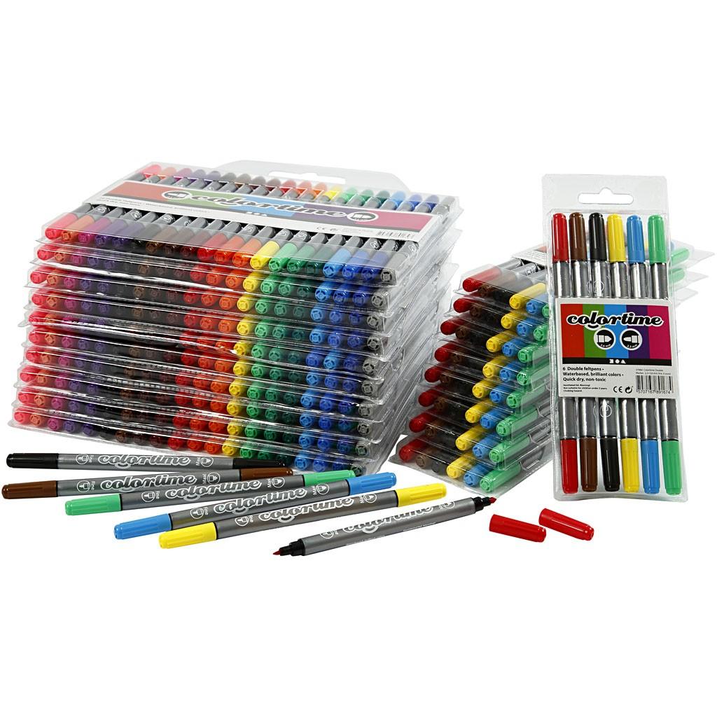 Lot de feutres, crayons, marqueurs