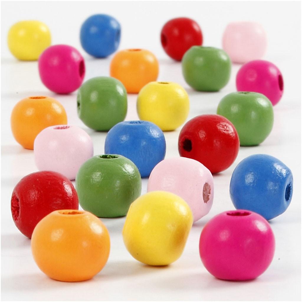 Lot de perles en bois