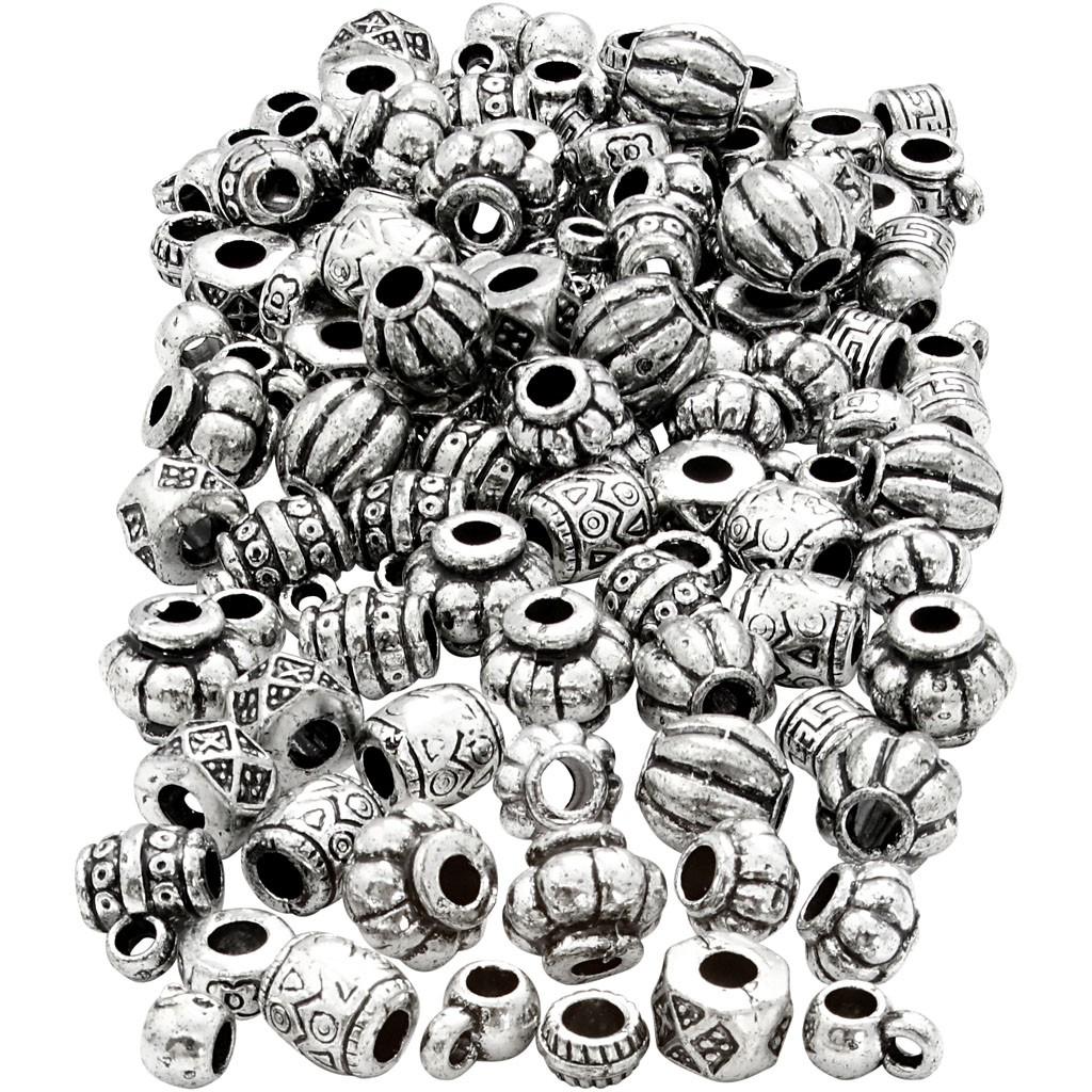 Perles en argent brossé