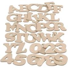 Lettres, chiffres en bois