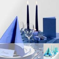 Table & Style bleu foncé