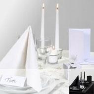 Table nuance noir-blanc-argenté