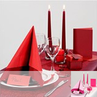 Table nuance rouge-rose