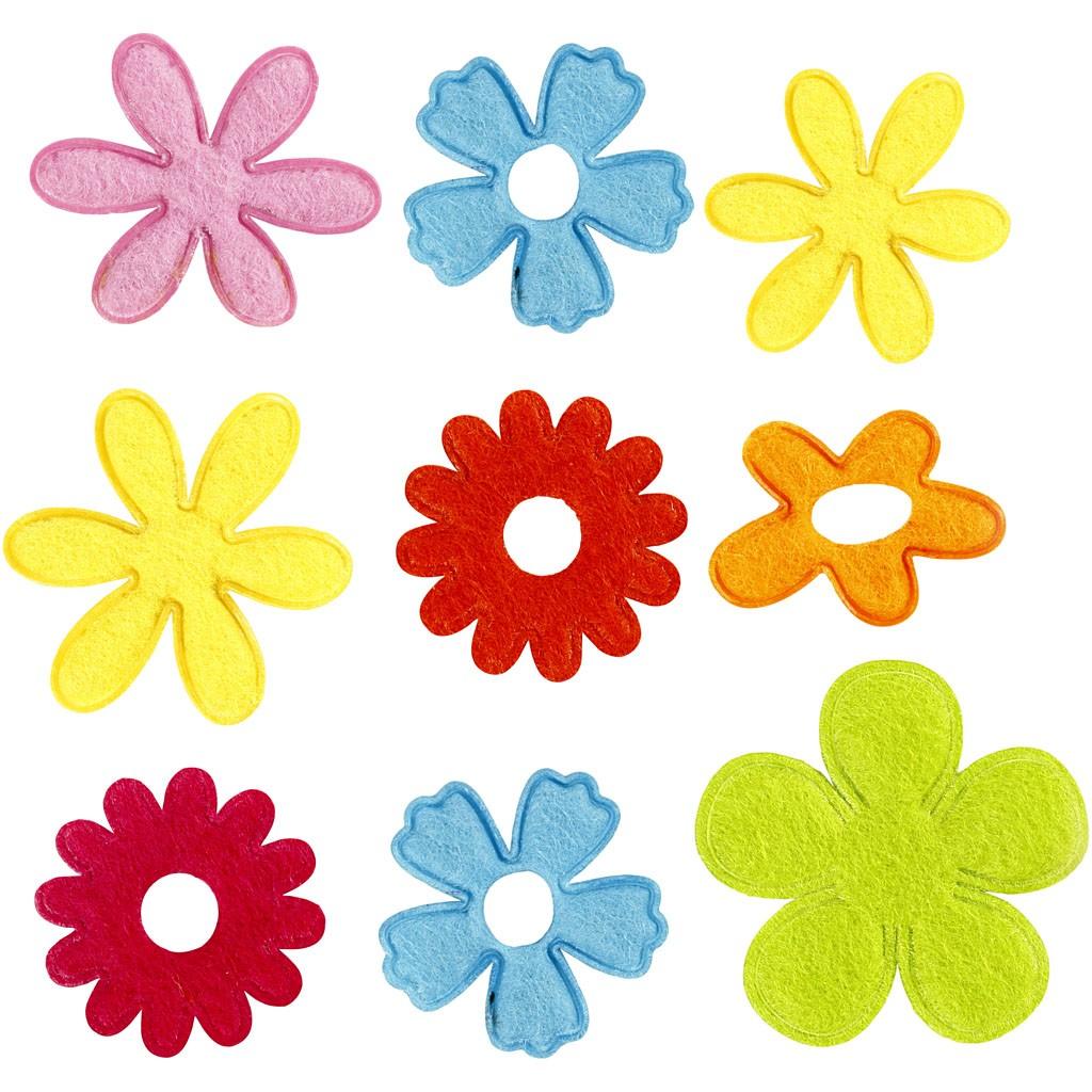 Fleurs papier et tissus
