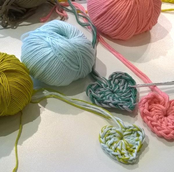 Les fils coton et tissu