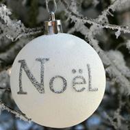 Boules et suspension Noël