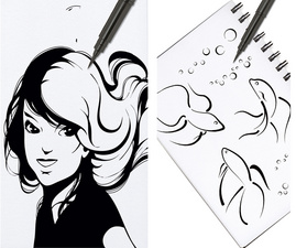 Feutres brush pen rechargeables