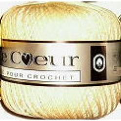 6 pelotes de coton a crocheter coup de coeur ecru ou blanc