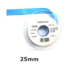 25m de ruban taffetas uni en 25 mm