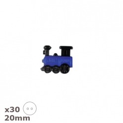30 Boutons locomotive 20mm Dill