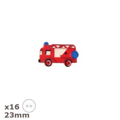 16 boutons camion de pompier 23mm dill