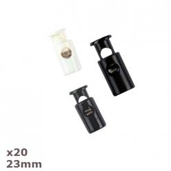 20 arrets de cordon 23mm dill couleurs au choix