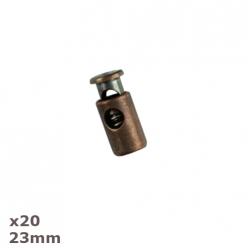 20 arrets de cordon copper 23mm dill