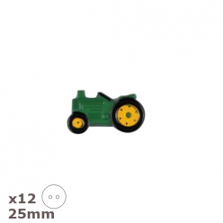 12 Boutons tracteur 25mm Dill
