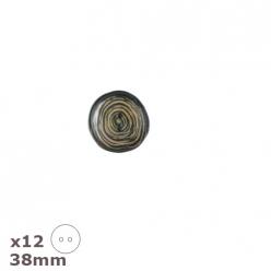 12boutonsspiralesnoir beige38mmdill