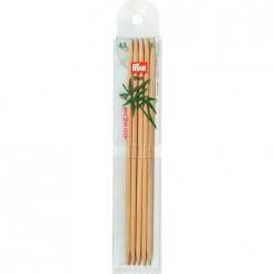 lot de 5 jeux de 5 aiguilles a tricoter a 2 pointes en bambou 45