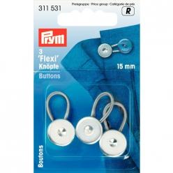 boutons flexi 15mm pour chemise 3pcs
