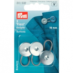 boutons flexi 19mm pour chemise 3pcs
