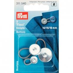 boutons flexi 10 15 19mm pour chemise 3pcs