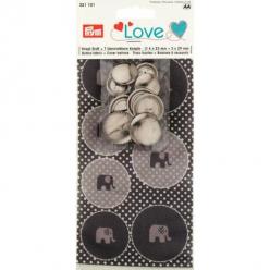 bouton a recouvrir love elephant