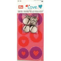 bouton a recouvrir love coeur