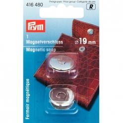 fermoir magnetique 19mm nickel