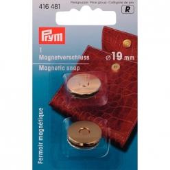 fermoir magnetique 19mm dore