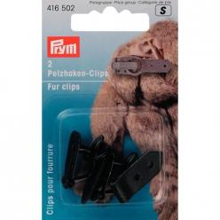 clips pour fourrure noir 2pcs