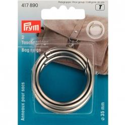 anneaux pour sac 35mm  argent