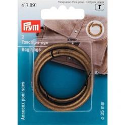 anneaux pour sac 35mm  laiton