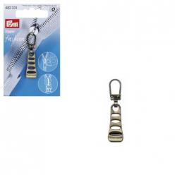 tirette fashion zipper echelle laiton antique