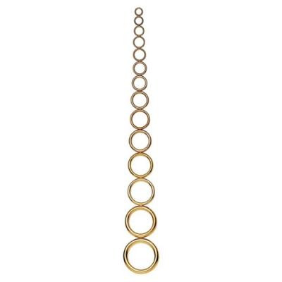 anneaux creux en laiton inoxydable x100 pieces
