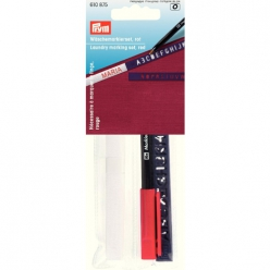 necessaire a marquer ruban thermo crayon rouge trace lettres