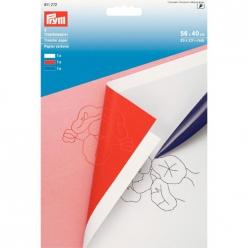 papier carbone blanc rouge et bleu 56x40cm