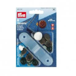 boutons de pression bronze 17mm