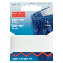 ruban elastique fort 25mm blanc prym