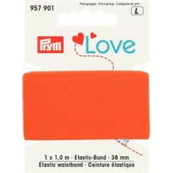 ceinture elastique love 38 mm x1 m