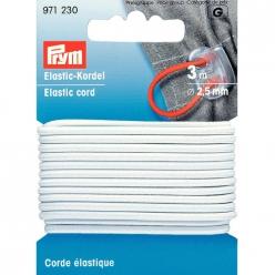 corde elastique blanc 25mmx3m