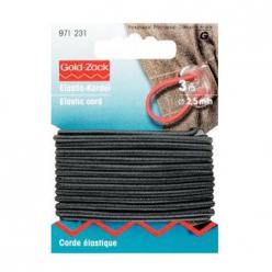 corde elastique 25mm noir prym