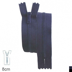 fermeture pantalon z13 non separable metallique 4mm  8cm