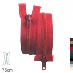 fermeture z68 separable 6 mm double curseur  75cm