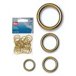 anneaux creux en laiton dore