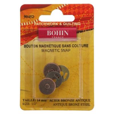 fermoir magnetique 14mm bronze