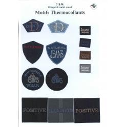 planche de motifs thermocollants  jeans