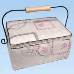 boite a couture rectangulaire motif roses