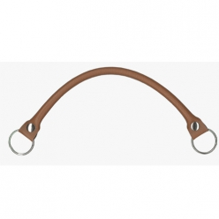 anse de sac en similicuir marron clair  40cm